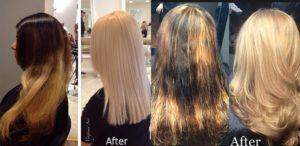 Olaplex před a po kůře